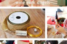 DIY angel wine cork Christmas ornaments