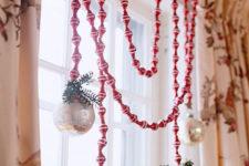 DIY window jewelry with ornaments