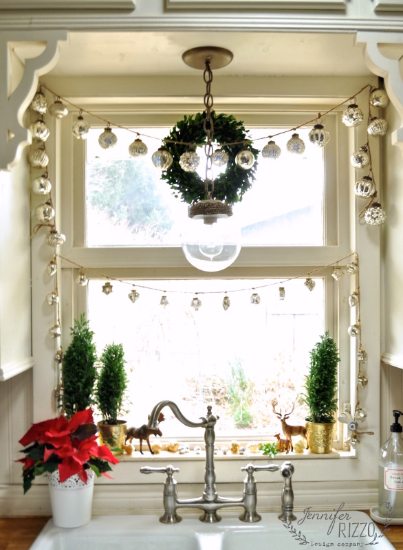 diy mercury glass hangings for the windows via jenniferrizzocom
