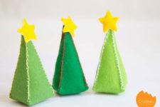 DIY mini stuffed Christmas trees