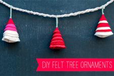 DIY quick felt Christmas tree ornament