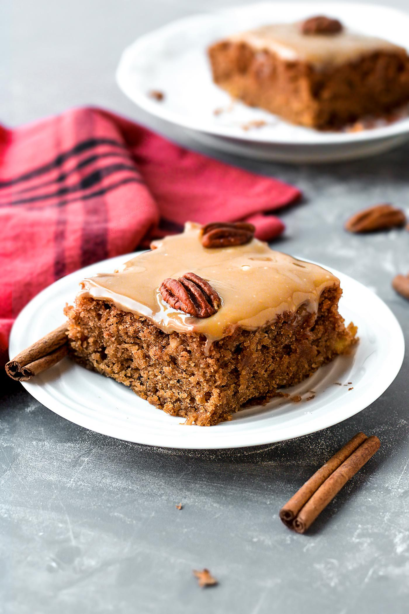 DIY moist chai applesauce cake for Christmas