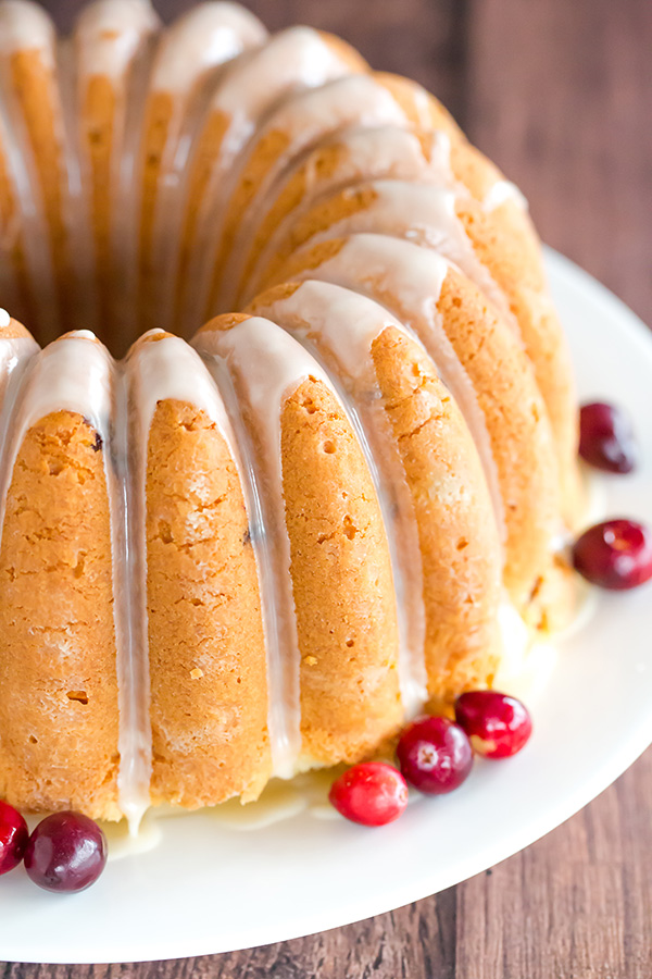 Fresh Orange Cranberry Pound Cake Recipe