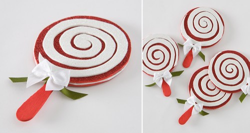 DIY candy cane coasters (via www.shelterness.com)