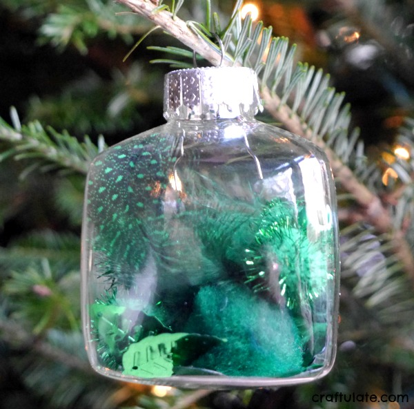 DIY Christmas fillable ornaments for kids