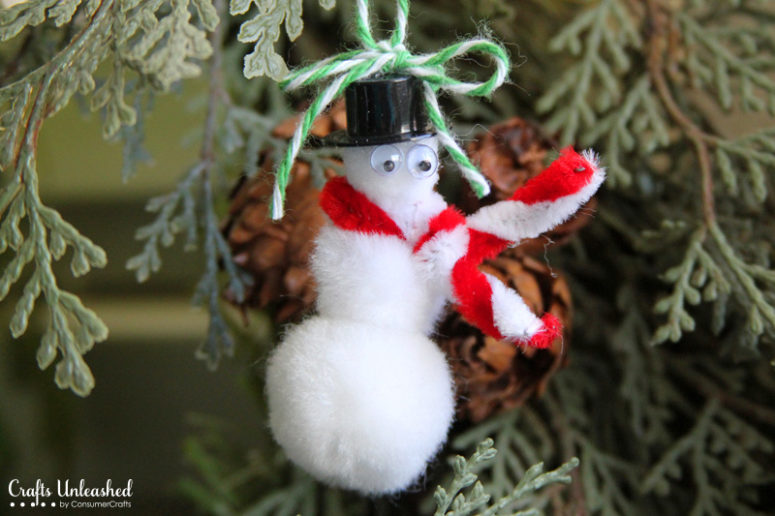 DIY snowman ornament or bookmark for kids (via blog.consumercrafts.com)