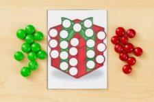 DIY M&M Christmas picture activity