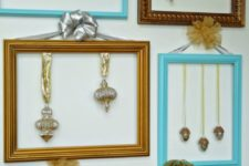 DIY ornament frames for Christmas decor