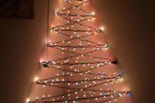 02 3D Christmas corner tree of lights