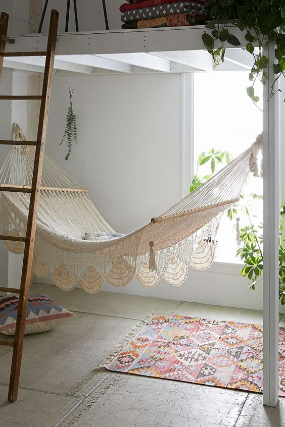 beautiful macrame hammock will change any space