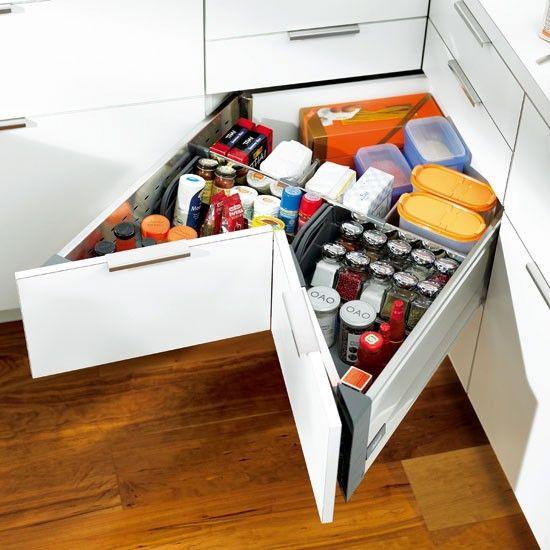 20 practical kitchen corner storage ideas shelterness - Practical kitchen drawers ...