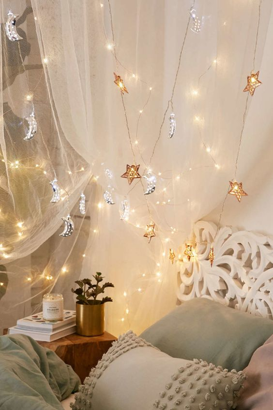dreamy half moon string lights that will instantly create an ambience of magic