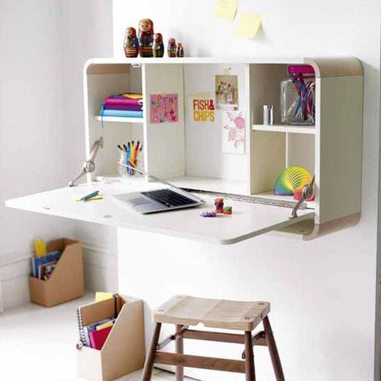 folding wall-mounted desk