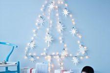08 star light garland forms a tree