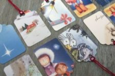 09 don't buy gift tags, just make them of cards and attach strings