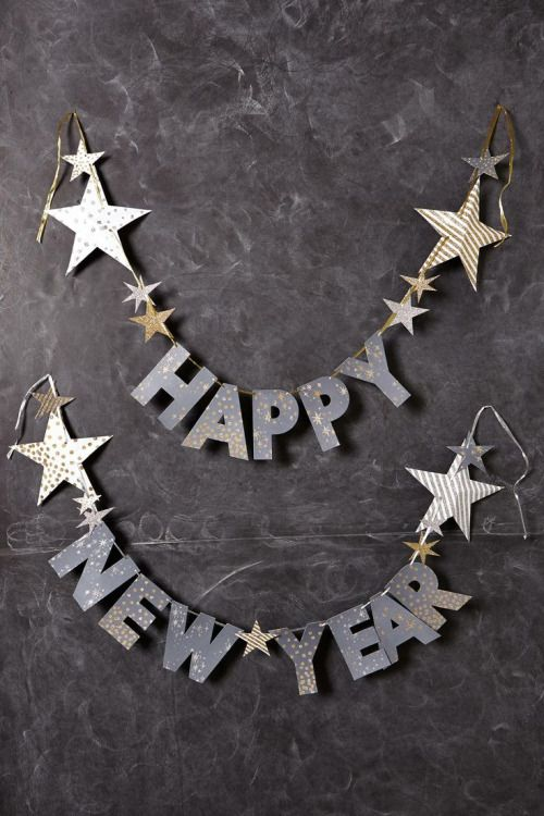 silver star letter garland