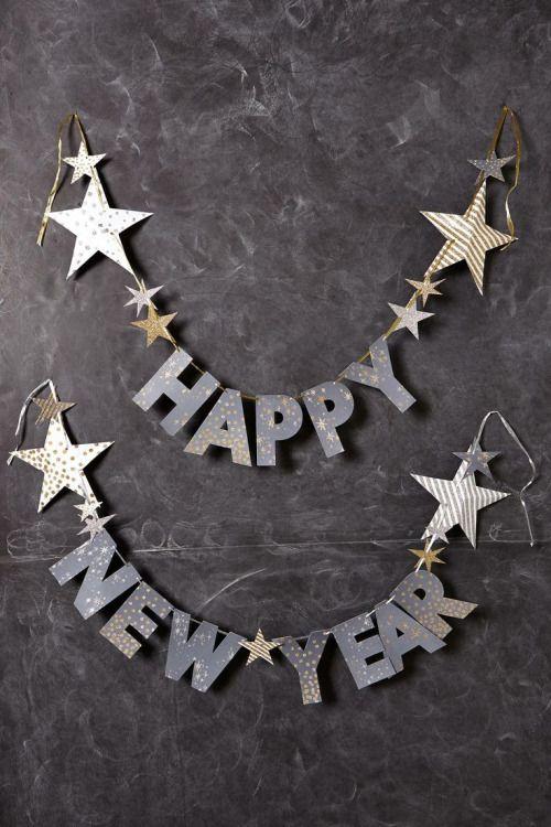 silver star letter garland