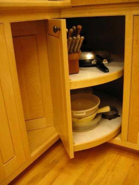 rolling corner cabinet