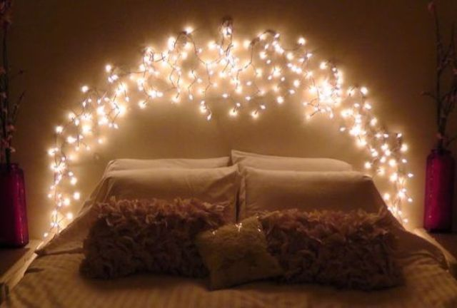 Lights Headboard Is A Whimsy Idea