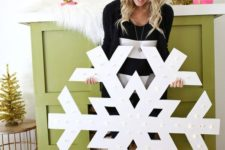 12 giant snowflake marquee sign will bring light to your space