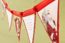 13 Christmas card banner with red banner