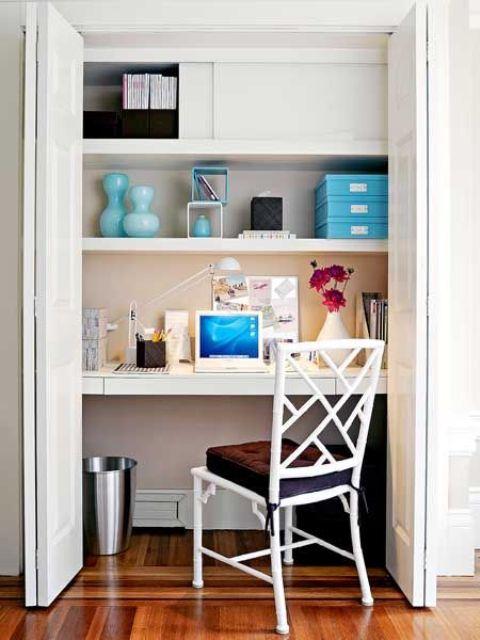 Hidden Desks 20 hideaway desk ideas to save your space - shelterness