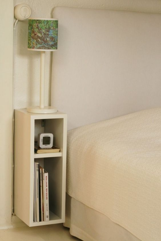 wall nightstand cabinet saves some space