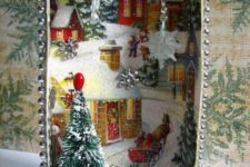 14 Christmas card shadow box
