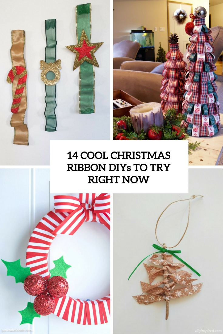 14 Cool Christmas Ribbon DIYs To Try