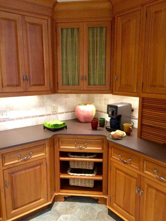 corner kitchen furniture. Interesting Corner Corner Open Storage And A Drawer Inside Corner Kitchen Furniture H