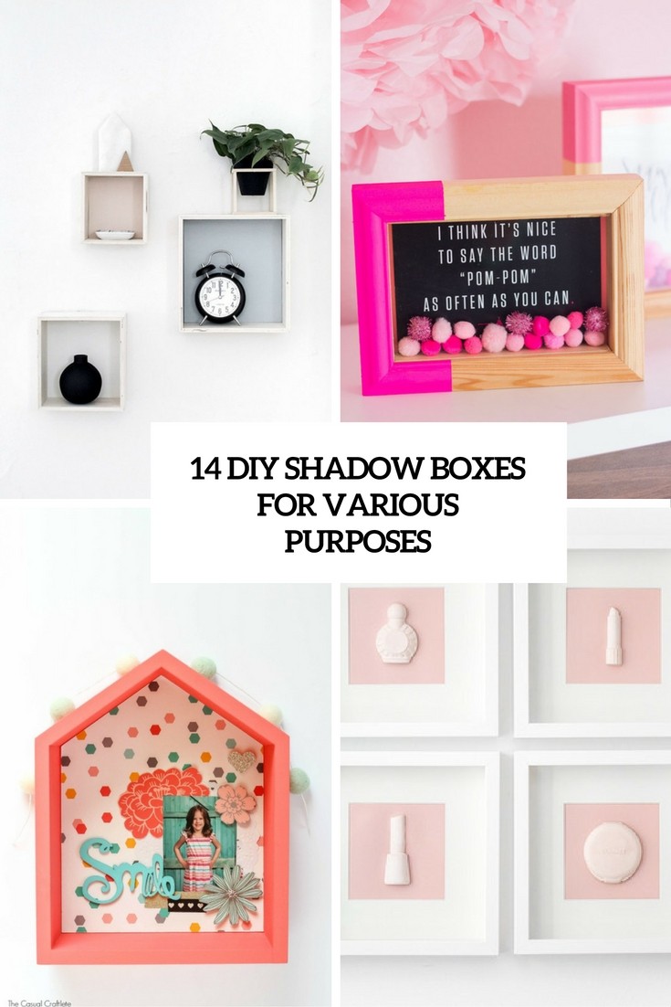 diy shadow boxes for various boxes cover