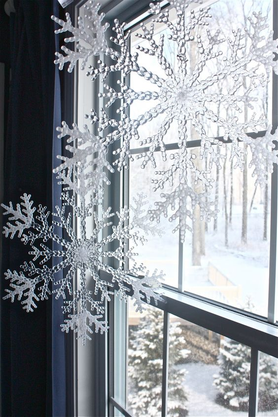 large snowflakes for window decor