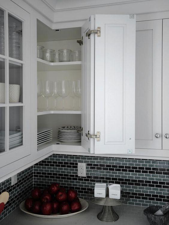 kitchen storage unit with corner storage