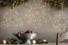 15 light birch snowflakes will easily create a mood