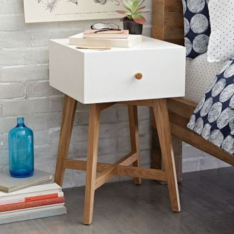 Tiny Nightstand 27 tiny nightstands for small bedrooms - shelterness