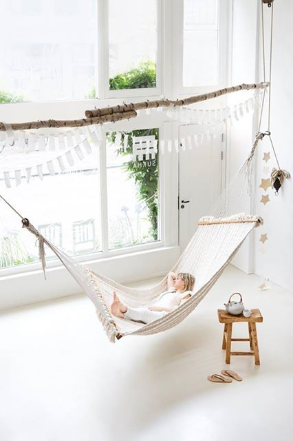 simple indoor hammock bed will delight your kid for sure