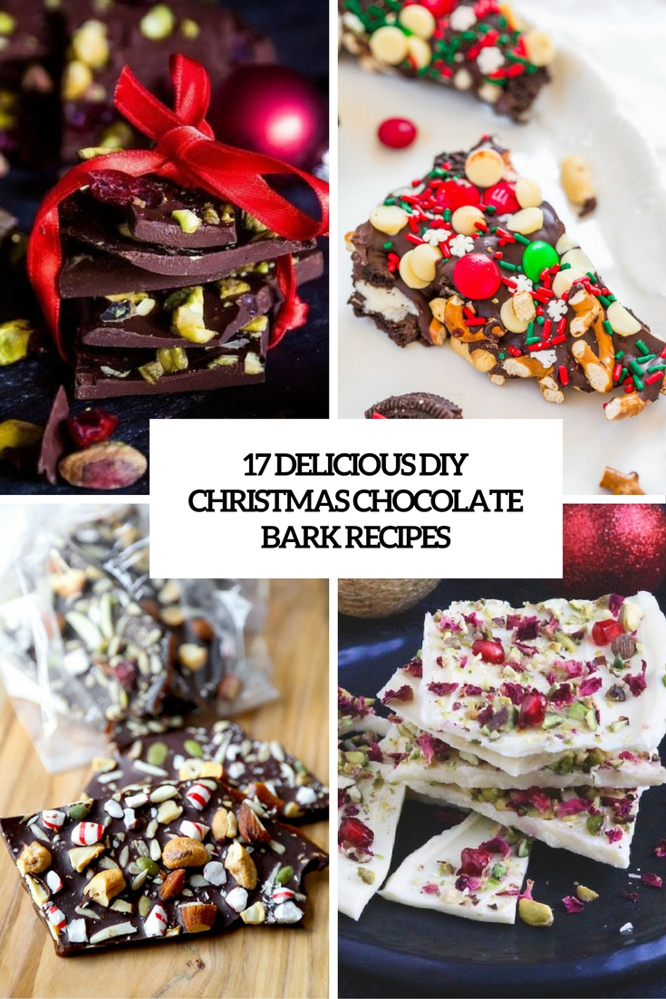 17 Delicious DIY Christmas Chocolate Bark Recipes