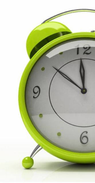 lime green alarm clock is a fun touch for your bedroom