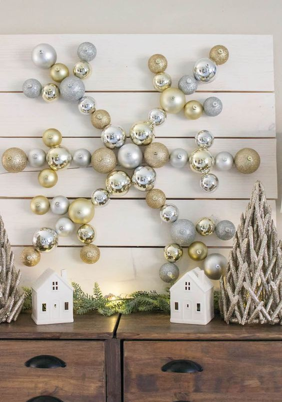 metallic ornament wall decor