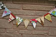 17 recyclable banners and garlands for Christmas