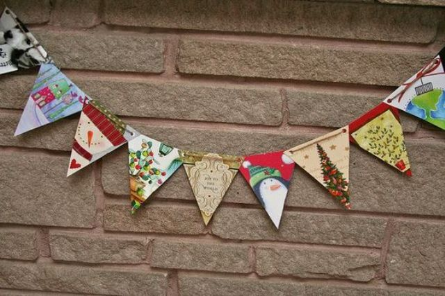recyclable banners and garlands for Christmas