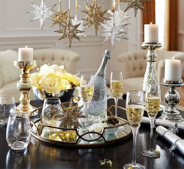 glitter metallic 3D stars are perfect for New Year decor