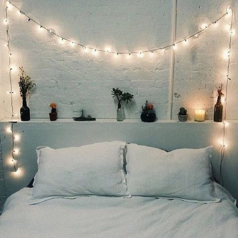 bedroom hanging lights 23 cool string lights ideas for your bedroom shelterness 10484