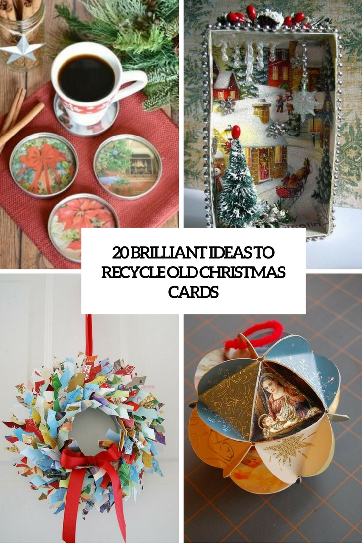 20 Brilliant Ideas To Recycle Old Christmas Cards Shelterness