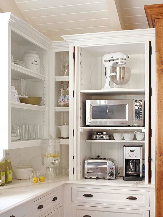 narrow kitchen corner storage unit