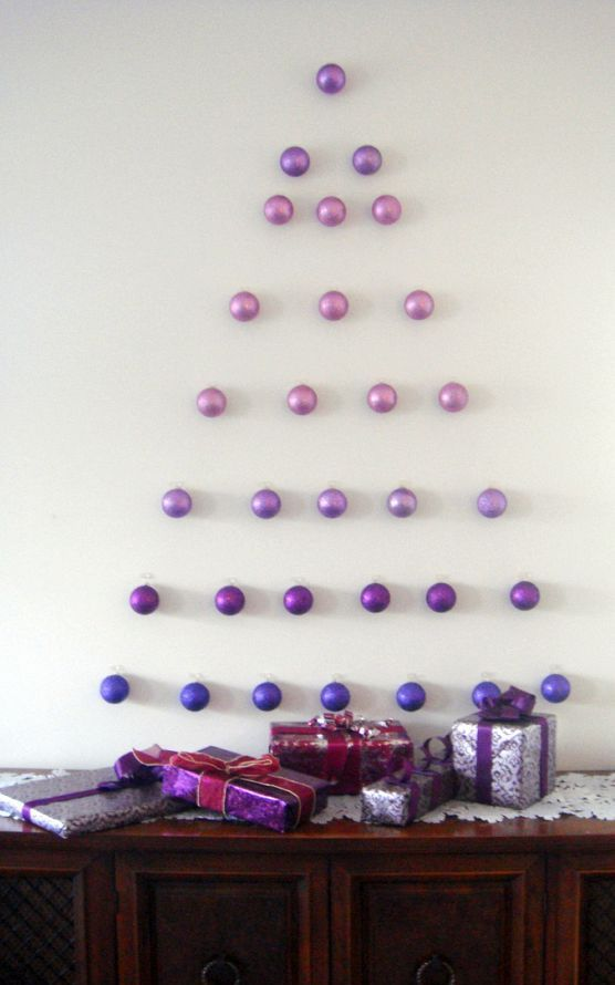 ombre ornament Christmas tree
