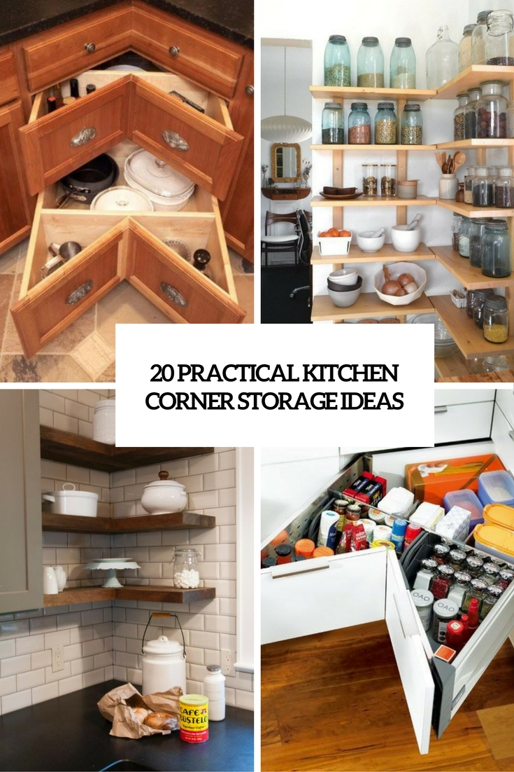 practical kitchen corner storage ideas cover