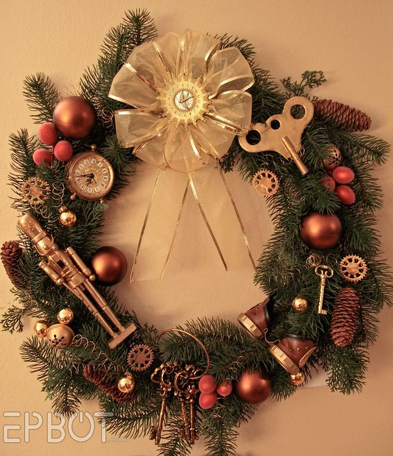 steampunk Christmas wreath
