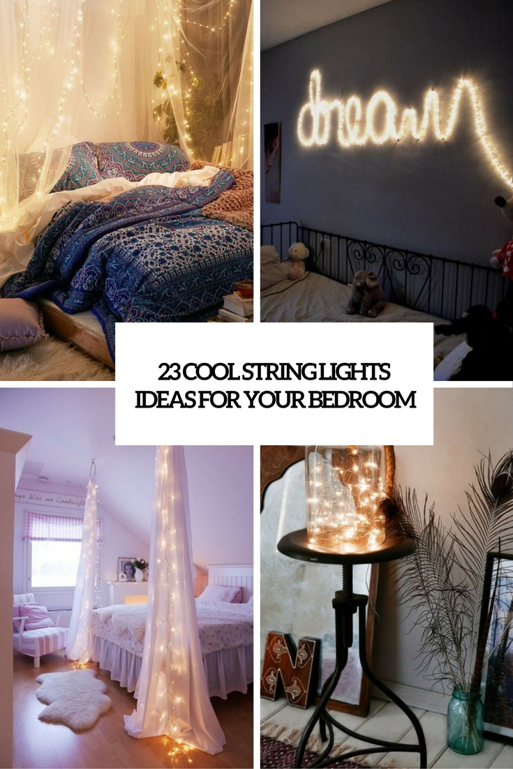 hanging string lights for bedroom 23 cool string lights ideas for your bedroom shelterness 18849
