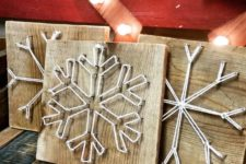 23 snowflake string artworks for holiday decor